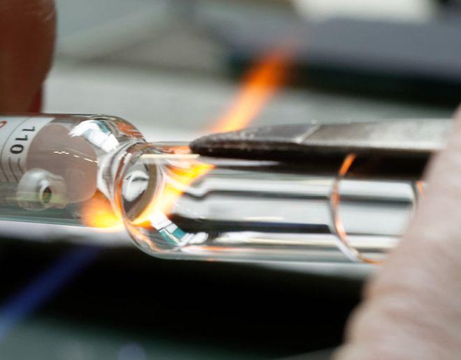 soufflage thermomètre en verre